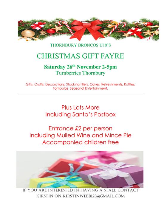 Christmas Gift Fayre Turnberies Thornbury