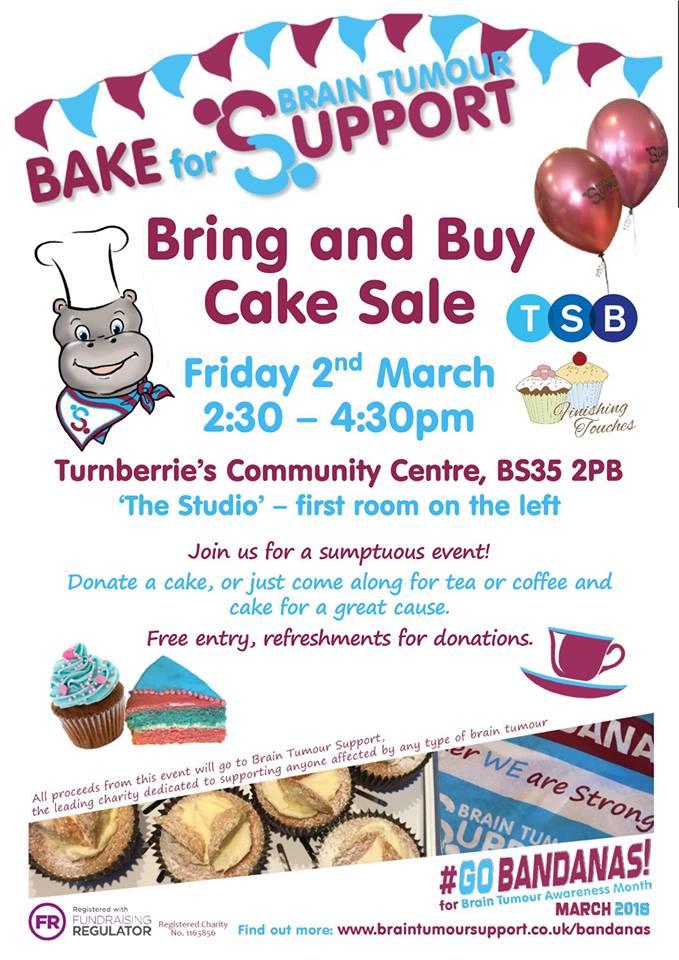 BRAIN TUMOUR SUPPORT BRING & BUY CAKE SALE